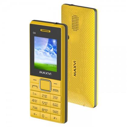 6b6ab8322298f Maxvi C9 DS Yellow/Black. Декалайн - продажа сотовых телефонов оптом ...